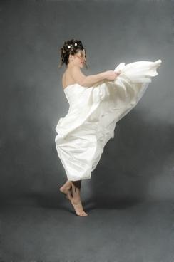 bride jump white