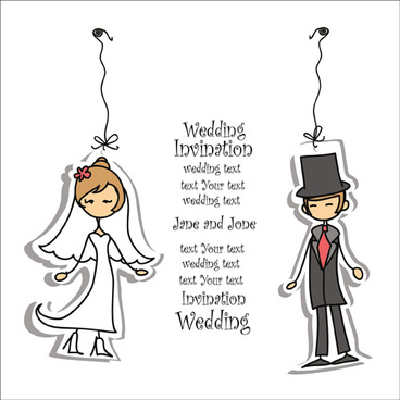 bride with groom design vector