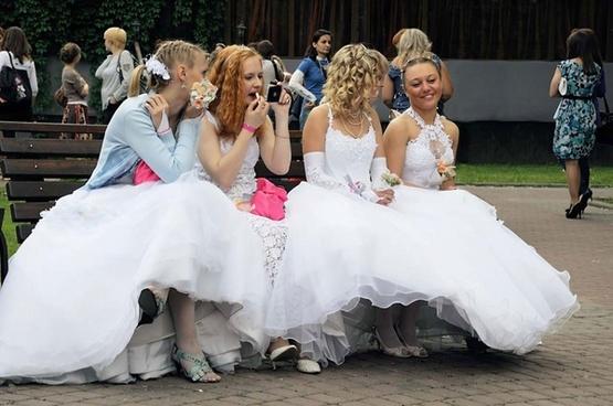 brides wait for