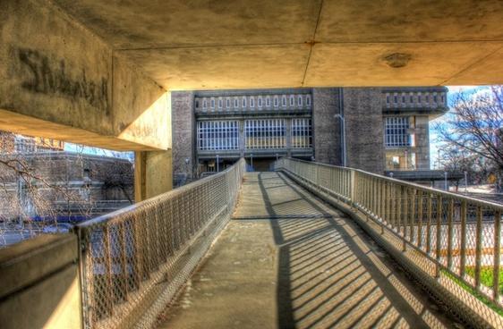 bridge between buildings in madison wisconsin