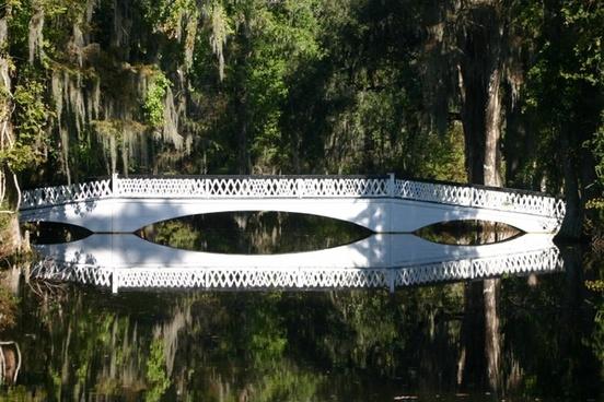bridge crossing white