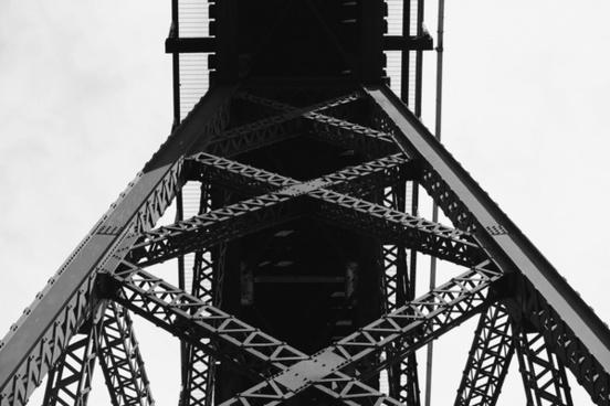 bridge iron lattice line metal silhouette steel