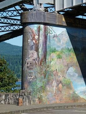 bridge pier painted artwork