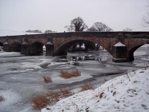 bridge river snow