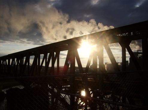bridge sky clouds