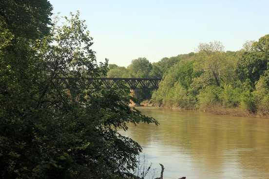 bridge spanning river at route 66 state park