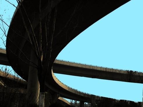 bridge with the letter e