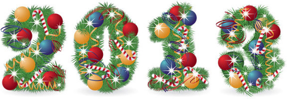 bright13 christmas font elements vector