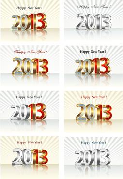 bright13 new year design vector