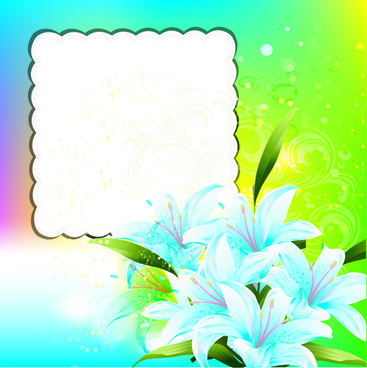 bright background with flowers design vector