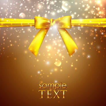 bright backgrounds with bow design vector