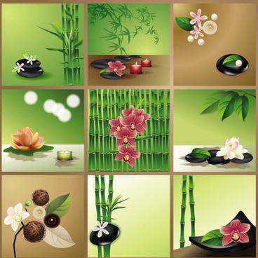 bright bamboo design elements