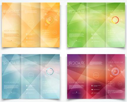 bright brochure folding cover design vector