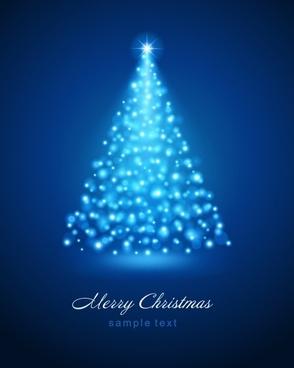 bright christmas background vector illustration