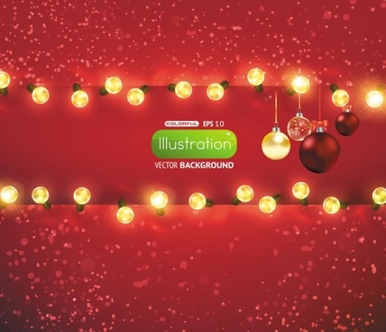 bright christmas lights background 01 vector