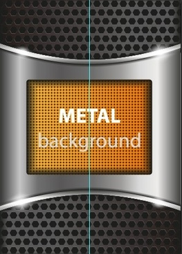 bright chrome metal background vector graphics