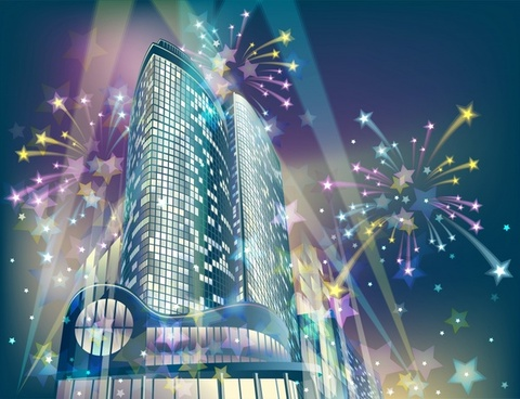 city festive background eventful sparkling modern decor