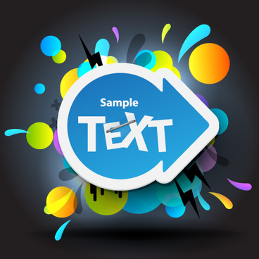 bright colored elements and labels vector