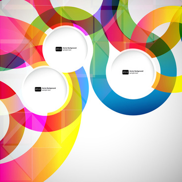 bright colored round abstract background