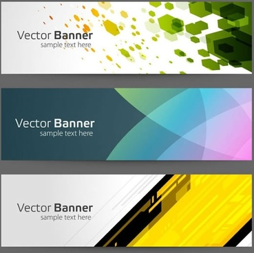 bright colorful banner banner vector