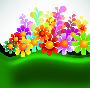 Flower Colorful Background Set Free Vector Download 74 558 Free