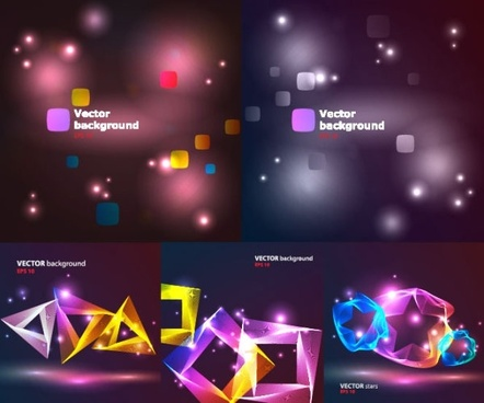 bright cool light vector background