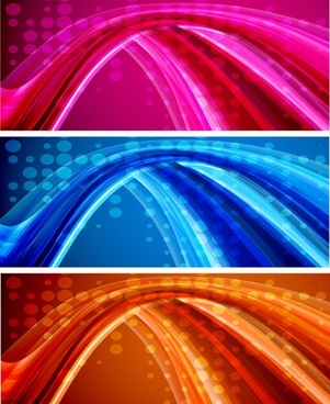 bright dynamic flow line vector