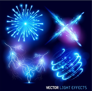 bright fireworks effects design background vector