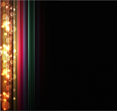 bright glare gorgeous eyecatching light effects background vector