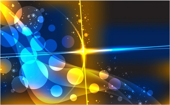bright glare gorgeous light effect background vector flow lines