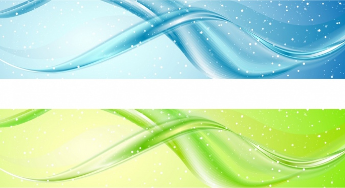 bright glossy curves background blue and green design