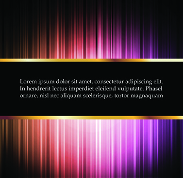 bright glowing lines vector background