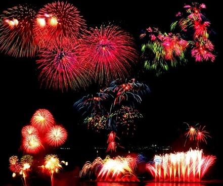 bright holiday fireworks psd