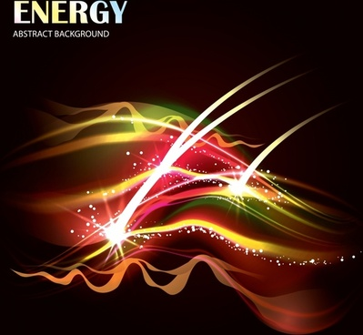 bright light effect background vector