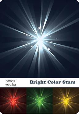bright light stars vector background