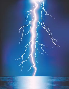 bright lightning background vector design