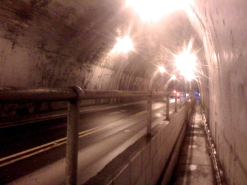 bright lights in tunnel