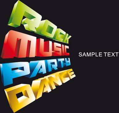 bright music theme elements background vector