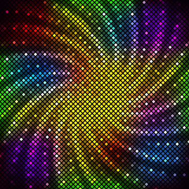 bright neon light art background vector set