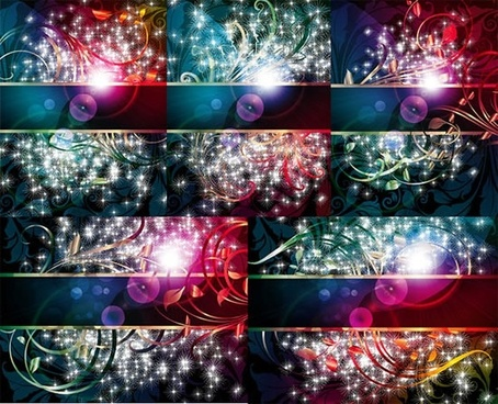 decorative background templates colorful modern sparkling decor