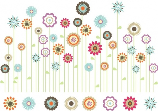 Vector Spring Flowers Poster Free Vector Download 16 369 Free