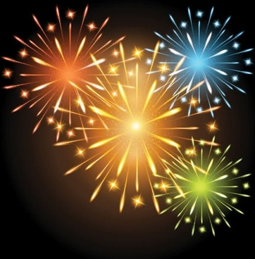 bright star fireworks fireworks vector