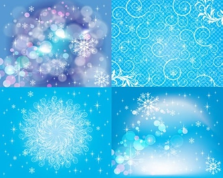 decorative background templates bright bokeh sparkling blue lights