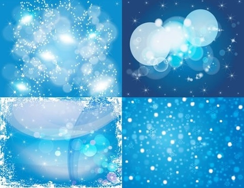 decorative background modern blue bright bokeh design