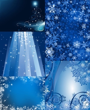 bright stars and snowflakes hd picture