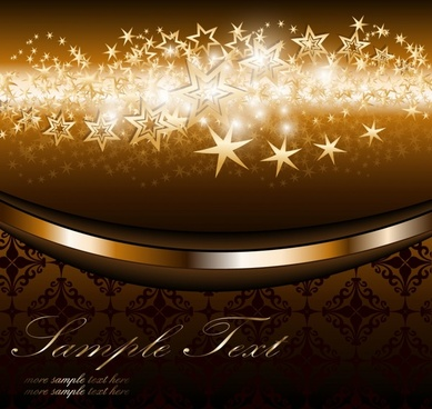 decorative background european luxury twinkling stars design
