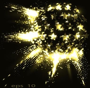 bright stars vector background glare