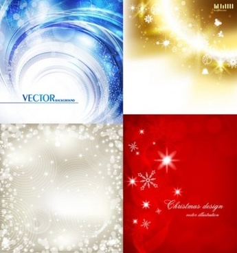 bright stars with snow background vector
