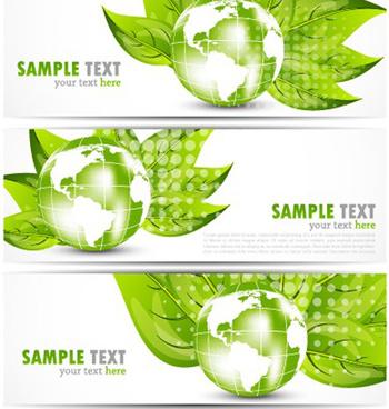 bright stylish banners design vector set
