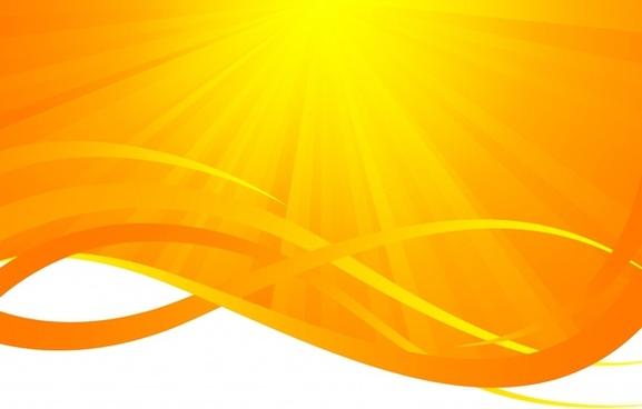 sun rays background vivid yellow design curves ornament